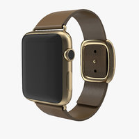 3d model apple watch gold 42mm