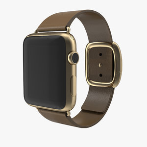apple watch gold 42mm 3d model