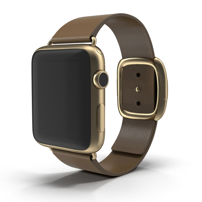 apple watch gold 42mm 3d model