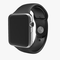 apple watch 42mm sport 3d model