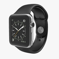 3d model apple watch 42mm sport