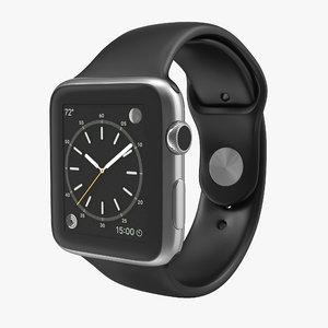 3d model apple watch 42mm sport
