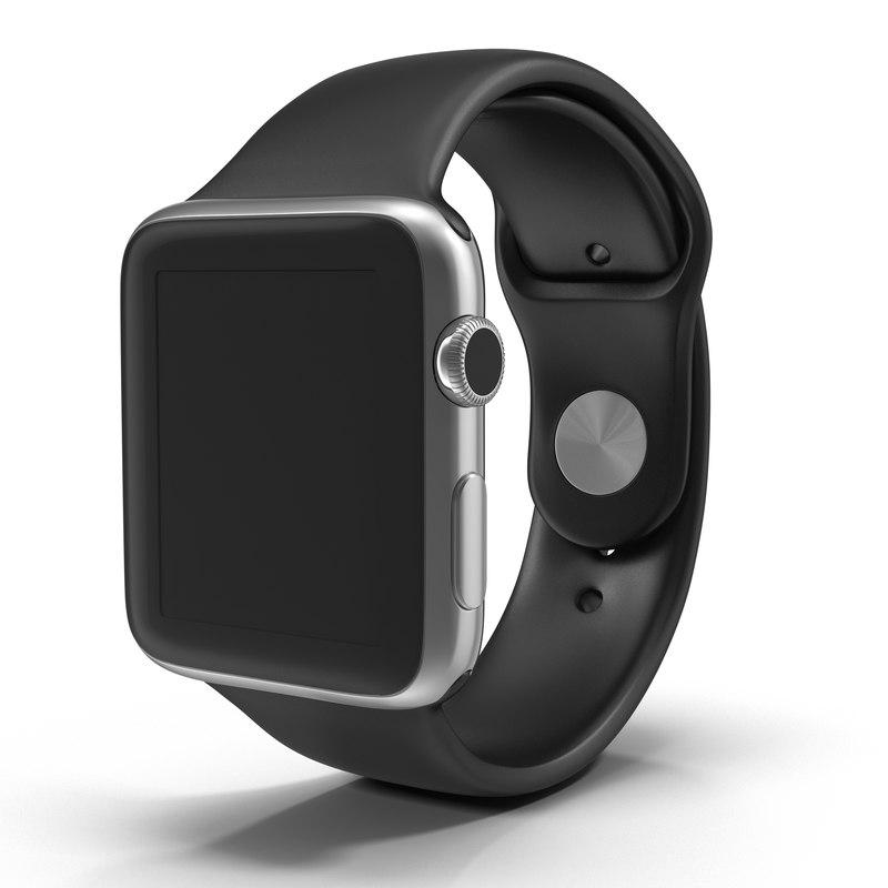 apple watch 42mm sport 3d model