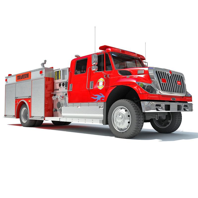 3d 3ds rescue pumper truck