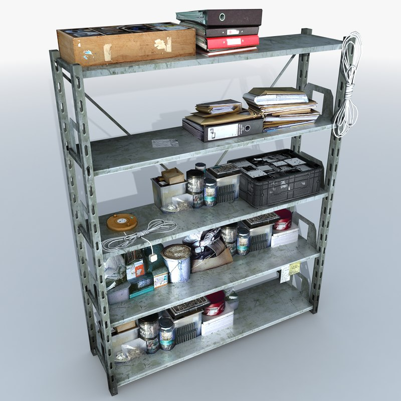 metal shelving clutter 2 max