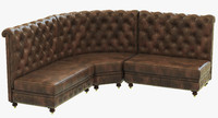 3d restoration hardware kensington leather model