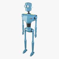 3d cartoon robot model
