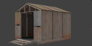 free shack 3d model