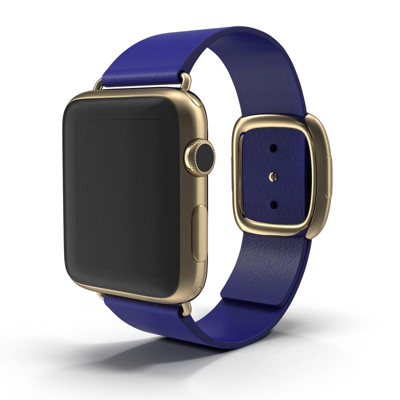 3dsmax apple watch gold 42mm