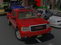 3d model gmc sierra extcab gmt900