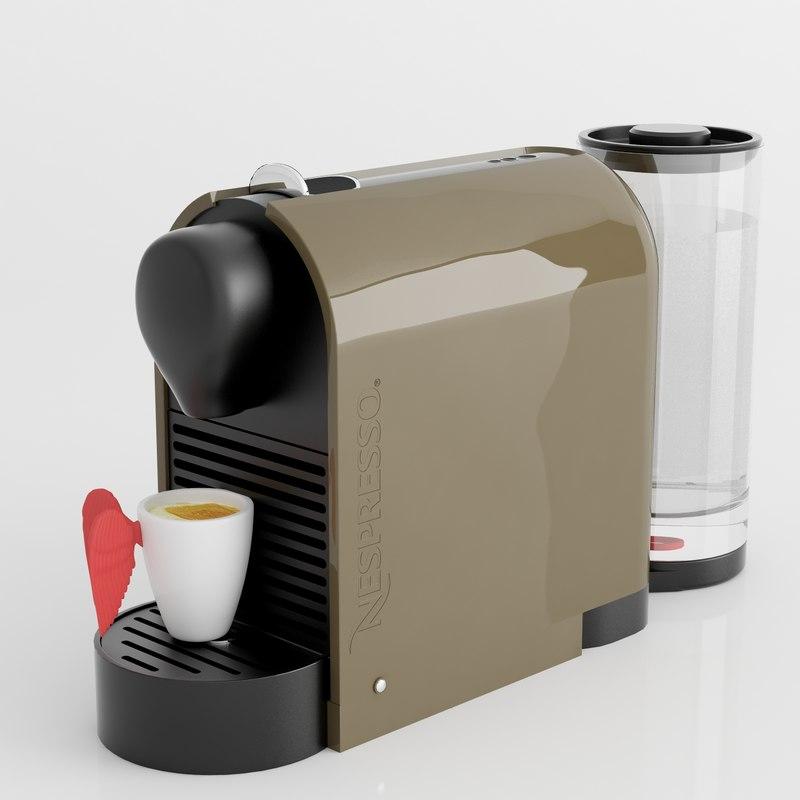 nespresso machine 3d max