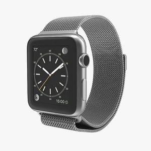 apple watch 42mm milanese 3d model
