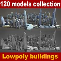 120 buildings obj