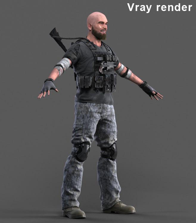 - mercenary 3 3d max