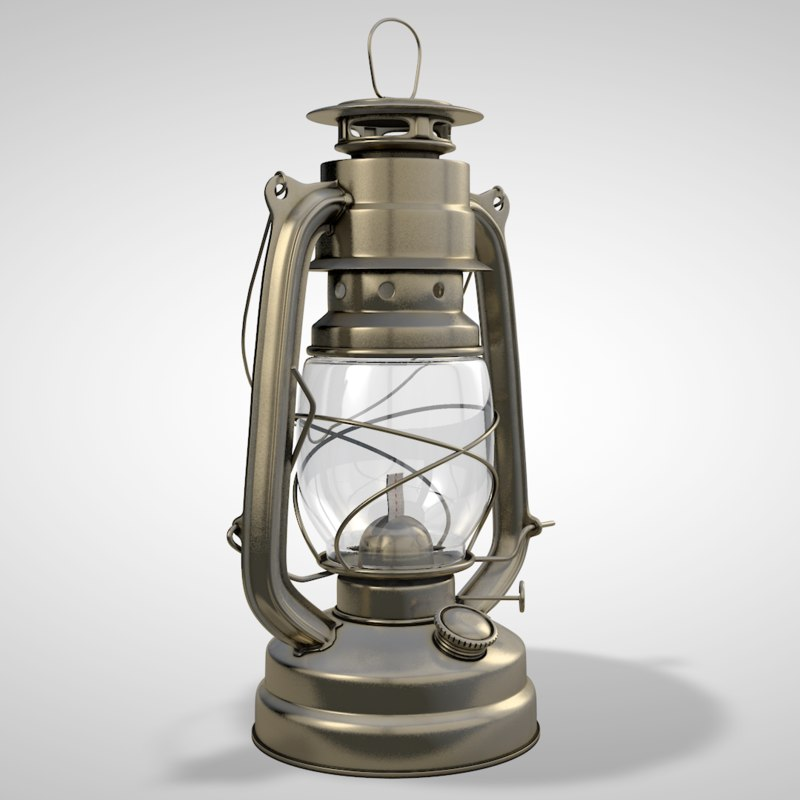 hurricane lantern 3d c4d