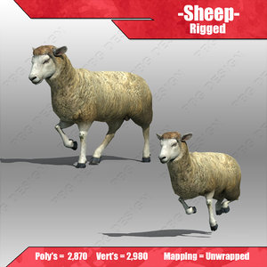 sheep animations 3d max