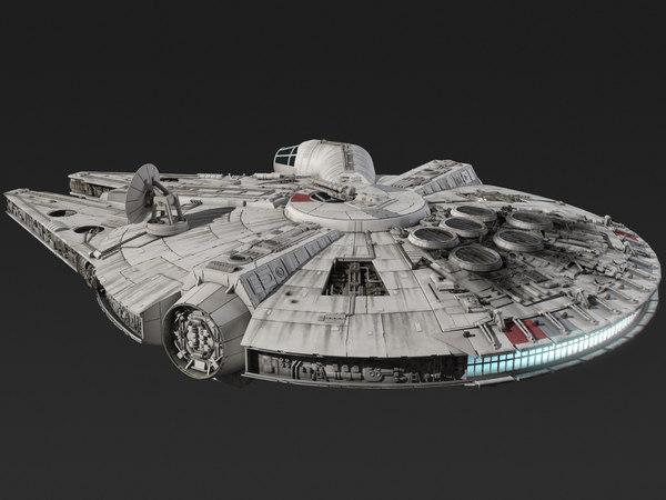 3d model millennium falcon star wars
