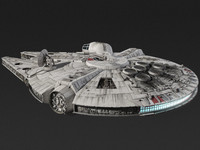 millennium falcon star wars 3d model