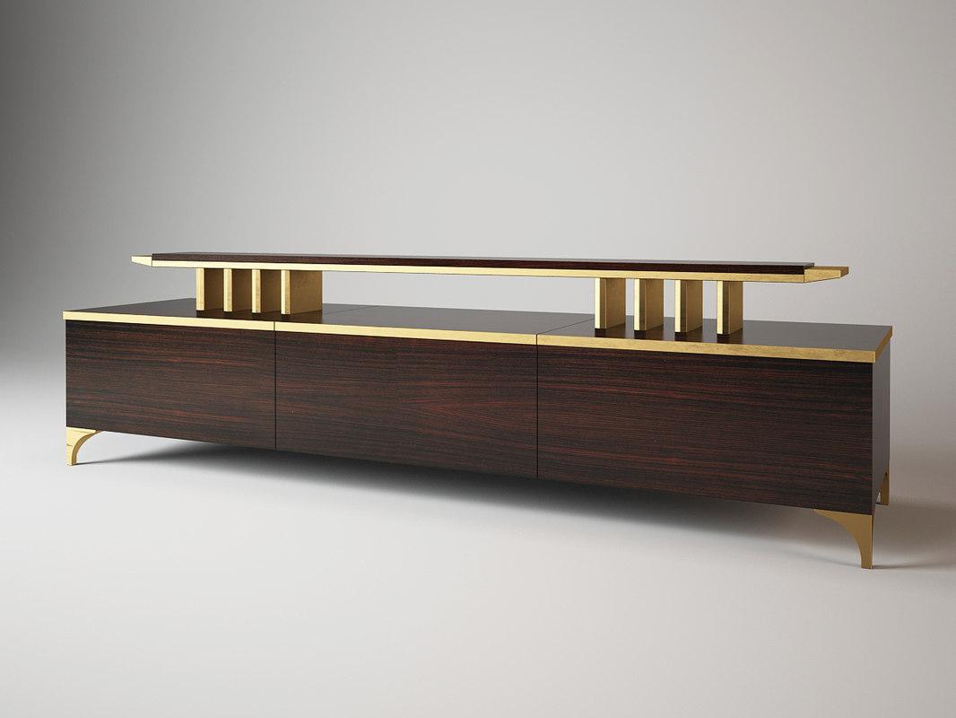3d model sideboard sc1001 oak design