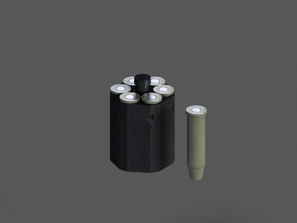 pistol speed loader 3d max
