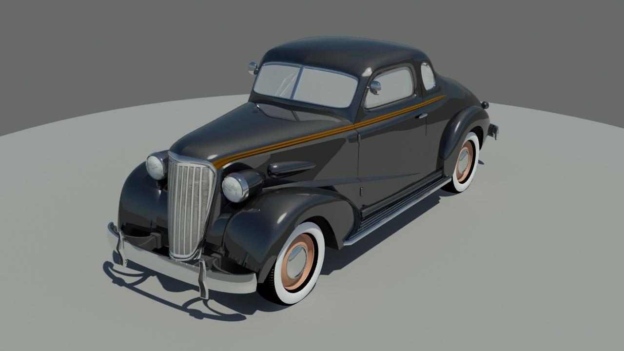 3d model classic 1937 car