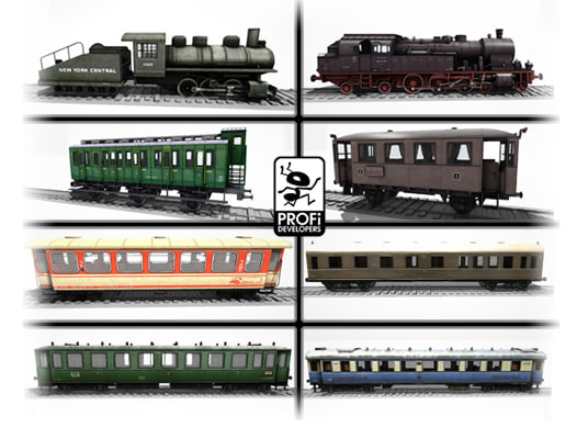 3d model steam locomotives