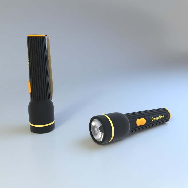 3ds max flashlight modelled