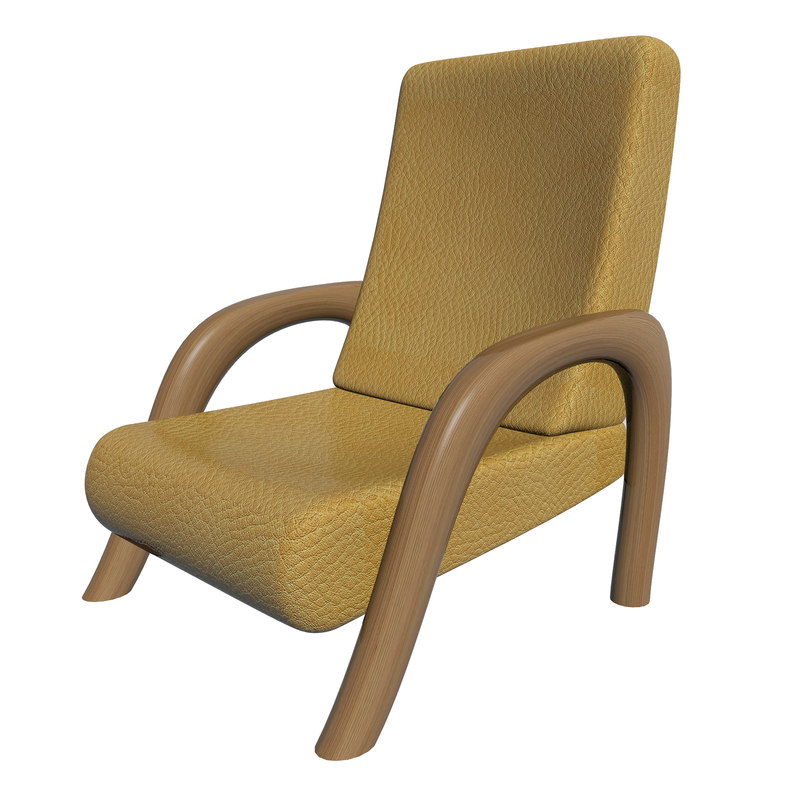 3d 3ds leather chair
