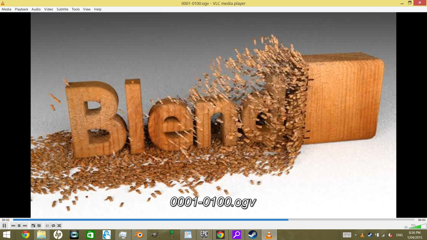wood text animation