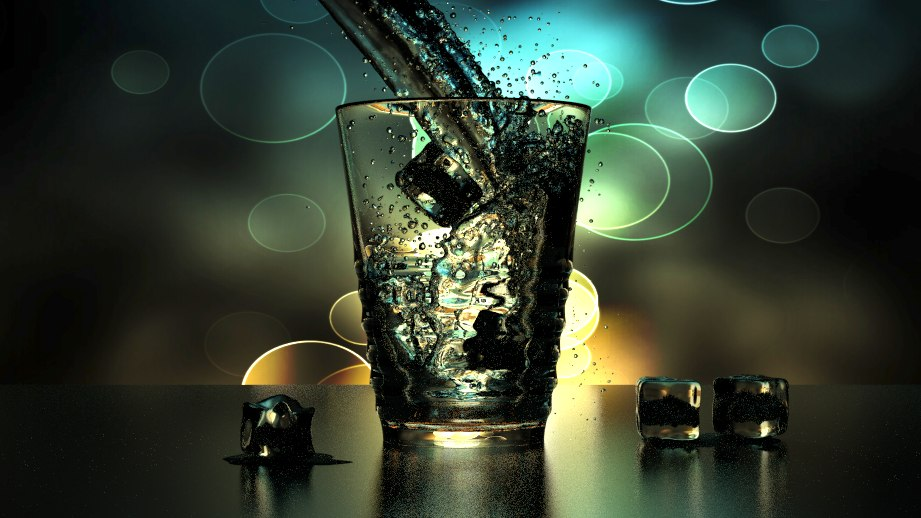 3dsmax cup water ice