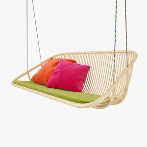 paola lenti swing hanging 3d model