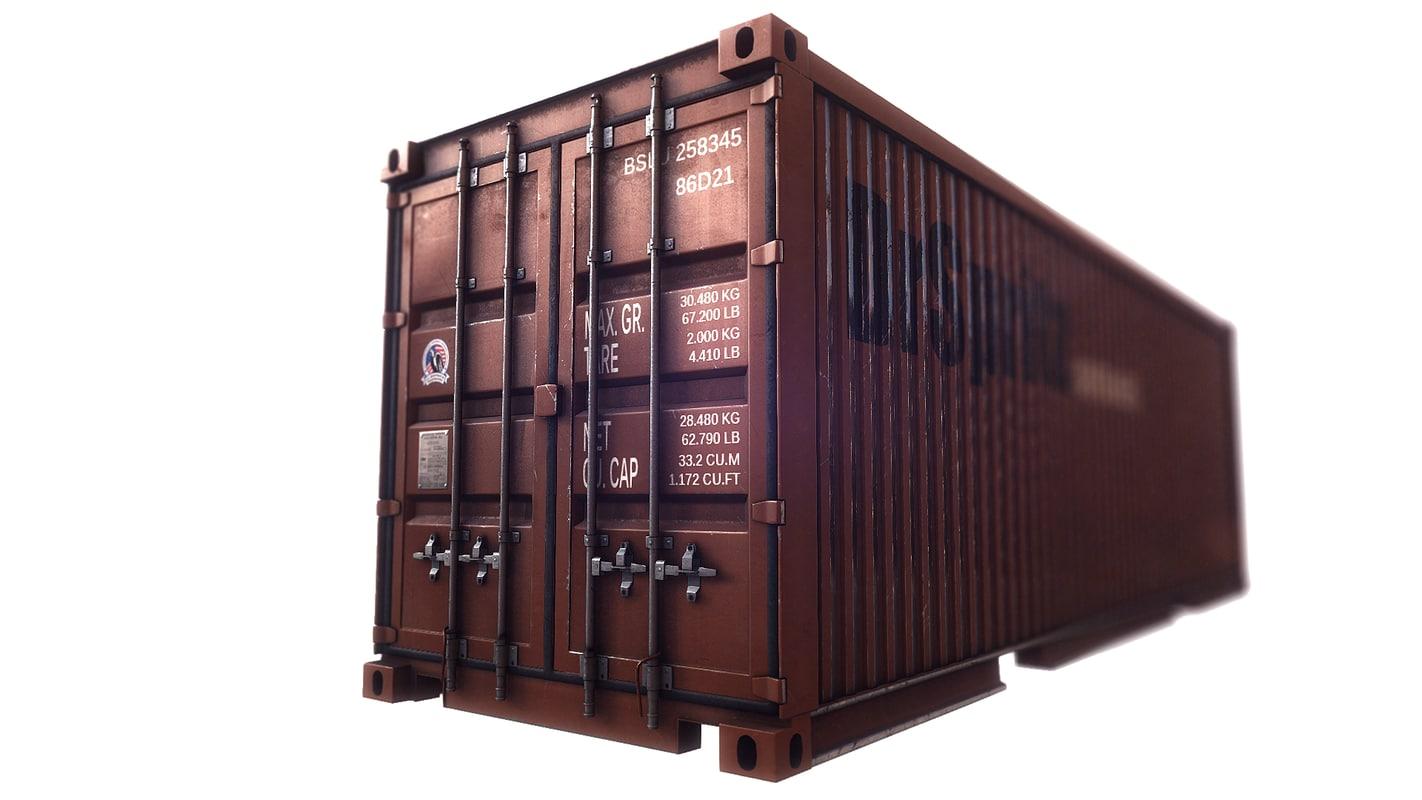 cargo container 3d model