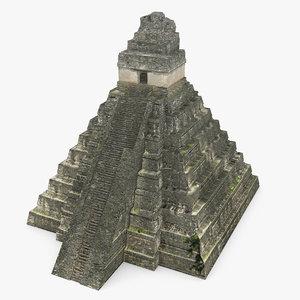 3d model tikal temple 1