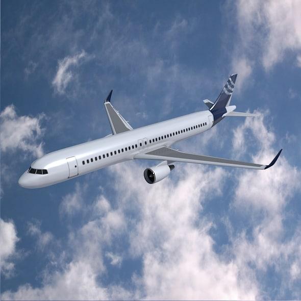3d 3ds jet airbus air