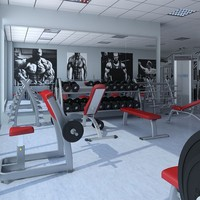 3d model big hd gym equipment