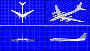 tu-95 bear aircraft solid dwg