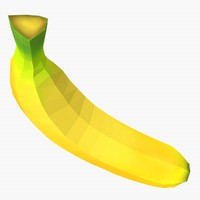 flat banana 3d c4d