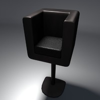 free blend model simple leather chair