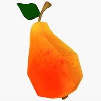 3d cartoon pear