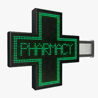 pharmacy sign 3d model