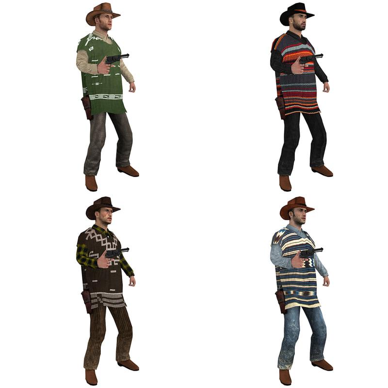 3d model rigged cowboy hat