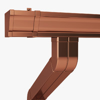 3d gutters rain water model