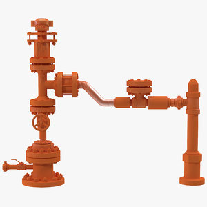 3ds max oil pump stuffing box