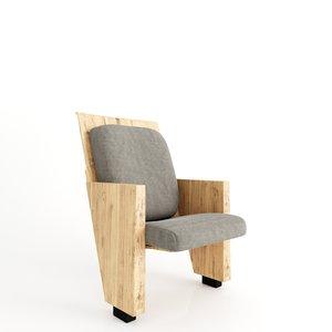 auditorium chairs nice 3d model