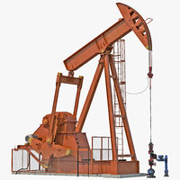 Oil Pump Jack Generic Rigged
