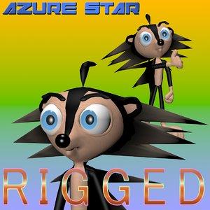 3d hedgehog character productions model