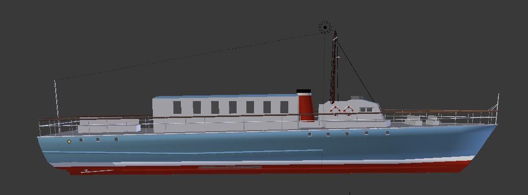 3d model ferry