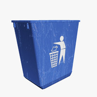 3d container basket waste 02