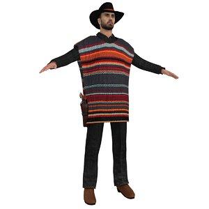 3d model of cowboy hat