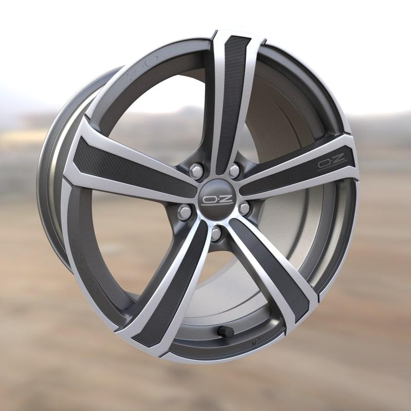 3d car wheel rim